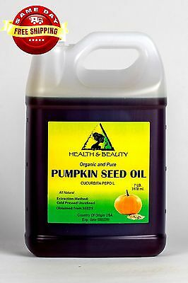 Pumpkin Seed Oil Unrefined Organic Carrier Cold Pressed Virgin Raw Pure 7 Lb