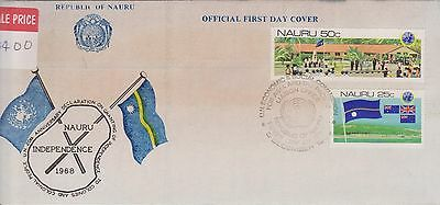 (ICA103) 1968 Nauru FDC 2set independence