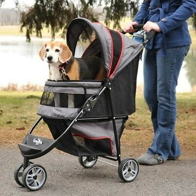 "Gen7Pets Regal Pet Stroller-Gray Shadow- G2320GS Pet Stroler 38"" x 17"" x 38"" NEW"