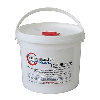 150 Heavy Duty Hand Cleaning Degreasing Garage Oil Industrial Hand Wet Wipes