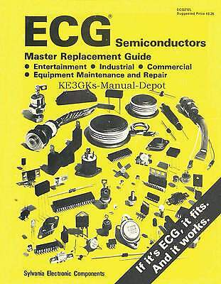 1982 ECG Semiconductor Master Replacement Guide * CDROM * PDF * KE3GK