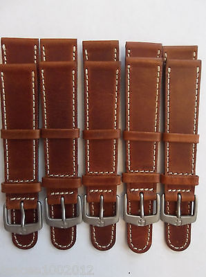 "19Mm**lot Of 5 Wenger, Swiss Army, Eddie Bauer Sport Watchband**7 1/2"" *leather*"