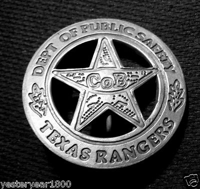TEXAS RANGERS COMPANY B BADGE MEXICAN PESO ON BACK OF BADGE AS MADE IN THE PAST