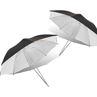 "2 x 33"" Black White Umbrella for Photography Lighting Studio Flash Strobe Light"