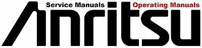 Anritsu Service, Users and Instruction Manuals * CDROM * PDF