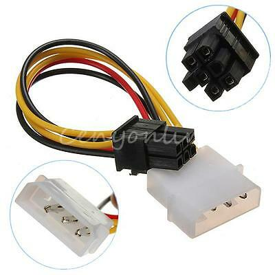 4 Pin Molex A 6 Pin Pci-E Pcie Video Scheda Power Convertitore Adattatore Cavo