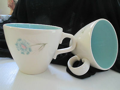 Two Taylor Smith Taylor Boutonniere Coffee/Tea Cups