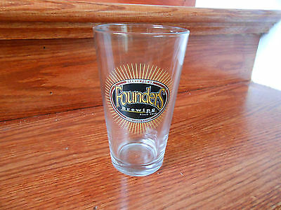 BRAND NEW FOUNDERS BREWING COMPANY BEER PINT GLASS