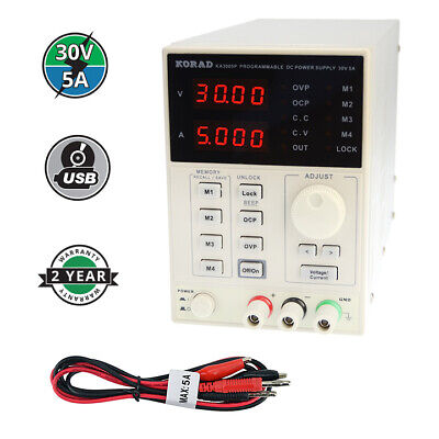KORAD KA3005P - Programmable Precision Variable Adjustable 30V, 5A  DC Linear Po