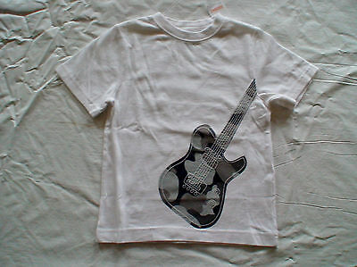 Nwt Gymboree Space Voyager White Gray Camo Guitar Top Shirt