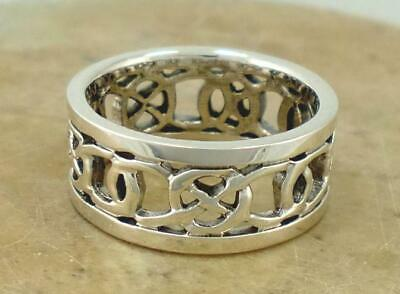 .925 STERLING SILVER CELTIC KNOT BAND RING size 6.5  style# r1528