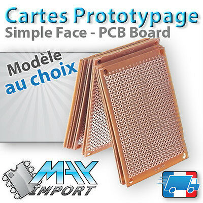 Carte Prototypage - Simple face -  Pas 2.54mm ( PCB board compatible Arduino )