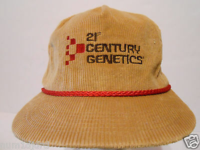 21st Century Genetics veterinary animal  farmer collector corduroy rope cap hat
