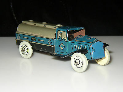"""1930`s TIN LITHO GERMAN PENNY TOY PETRO FUEL GAS MILK TANKER TRUCK GERMANY 4"""""""