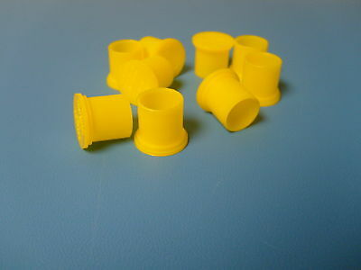 New BNC Female Cap Plugs Caplugs Lot 500 Yellow New Protection Caps Dust Cover