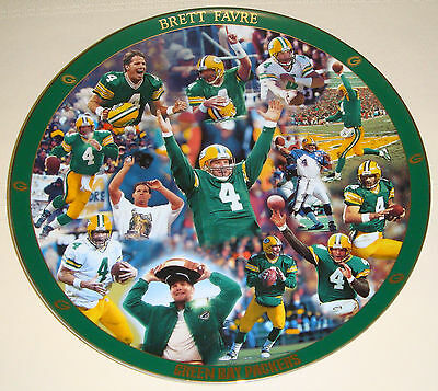 BRETT FAVRE Green Bay Packers NO. 4 Quarterback 12 Inch Heirloom Collector Plate
