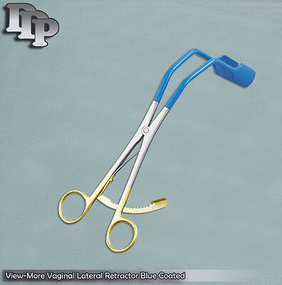 View-More Vaginal Lateral Retractor Blue Coated