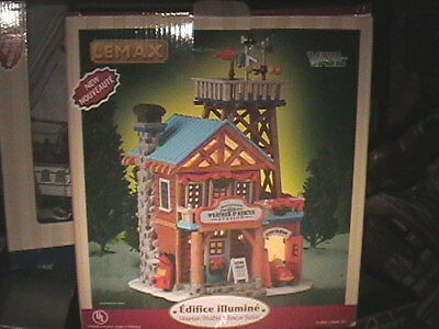 Lemax Vail Village Mountain Weather & Rescue Station Lighted NIB