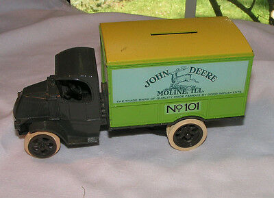 John Deere replica mack 1926 bull dog 1:24 DIE cast Truck Bank
