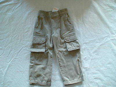 GYMBOREE CAMP YOMITE KHAKI CARGO ROLL-UP WOVEN PANTS 3 6 12 18 3T NWT