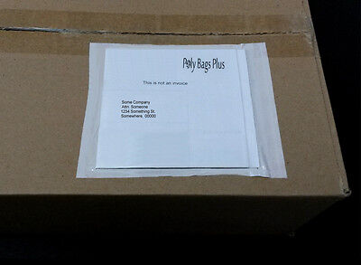 "100 6 x 4 1/2"" Clear Packing List Envelopes Invoice Enclosed Label Slip Plain"