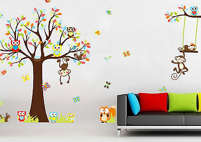 wandtattoo wandsticker zoo eichh rnchen tiere vogel wandaufkleber kinderzimmer picclick de. Black Bedroom Furniture Sets. Home Design Ideas