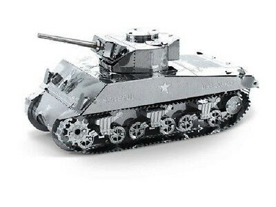 Sherman Tank  Metal Earth 3D Laser Cut Miniature Model Kit 2 sheets