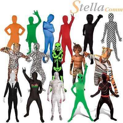 Childrens Kids Morphsuits Girls Boys Fancy Dress Halloween Party Costume Outfit