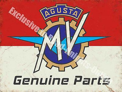 Vintage Garage MV Agusta, 116, Motorcyles Parts Italian, Small Metal Tin Sign
