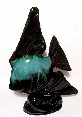 "Vintage Blue Mountain Pottery Angel Fish Figurine Large 17"" Statue"