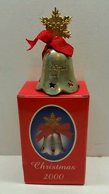 International Silver Co. Engraved Bell 2000Nts Silver Plated Christmas