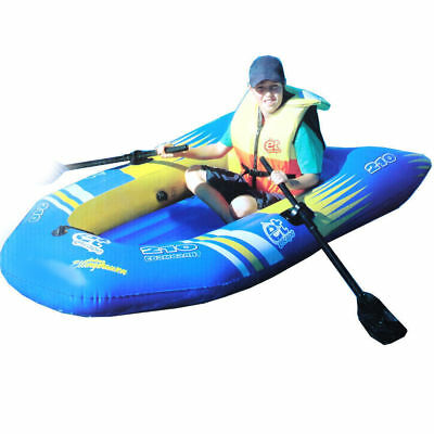 2 person Inflatable Raft/Oar Fishing Boat Sea Ocean River Canoe kayak Floating