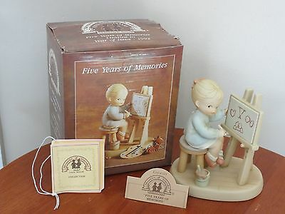 "Memories Of Yesterday Enesco "" Five Years Of Memories "" Porcelain Fig. # 525669"