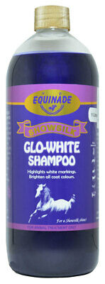 Equinade GLO-WHITE Showsilk shampoo Horses Dogs Cat Poultry stables kennels