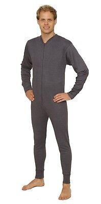 OCTAVE® Mens Cotton Thermal Underwear Onesie All In One Union Body Suit