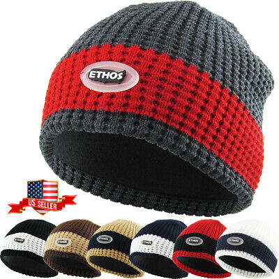 5d6af0307e6b8d Plain Beanie Knit Ski Cap Skull Hat Warm Solid Cool Winter Cuff New Blank  Beany