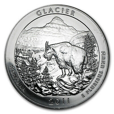 2011 5 oz Silver ATB Coin Glacier, MT - America the Beautiful - SKU #61840