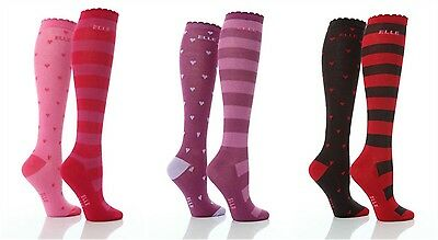 Girls 3 Pair Young Elle Red Spots /& Stripe Trainer Socks