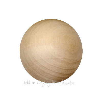 """25 Unfinished Wood 1//4/"""" 6mm Round Wood Balls #0250 Made in USA"""