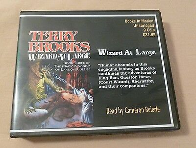WIZARD AT LARGE by Terry Brooks; Unabridged 9-CD Audiobook (Cameron Beierle)
