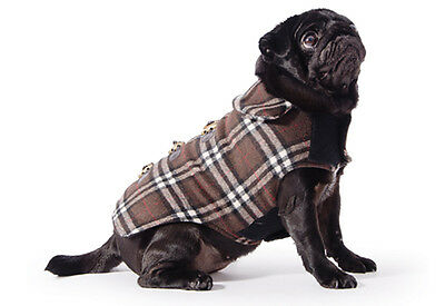 Ancol Small Bite Chocolate Check Dog Duffel Coat - All Sizes