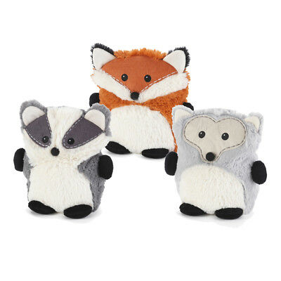 Hooty Friends Microwaveable Heatable Childs Cuddly Soft Toy Badger Fox Hedgehog