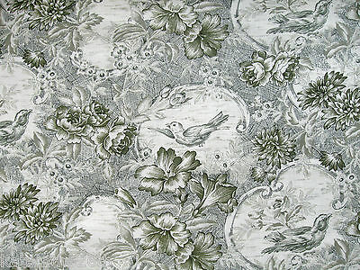 1 Yard In The Beginning Cotton Quilting Sewing Fabric, 'Floral Bouquet Toile'