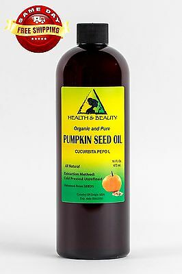 Pumpkin Seed Oil Unrefined Organic Carrier Cold Pressed Virgin Raw Pure 64 Oz