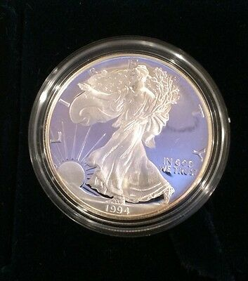 1994-P American Silver Eagle Proof All Boxes And COA