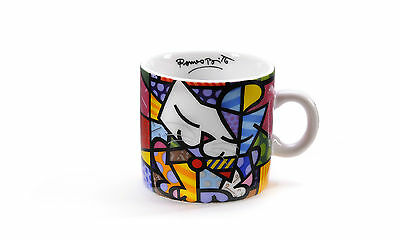 Romero Britto Miniature Ceramic Mug: Cat  ** New **