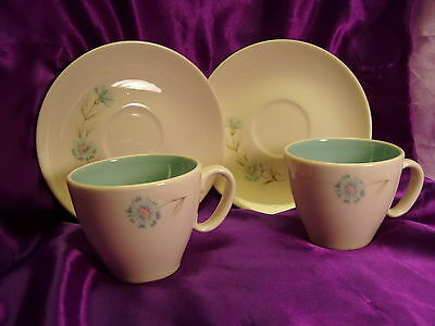 """Taylor Smith Taylor""""Boutonniere"""" Cups and Saucers"""