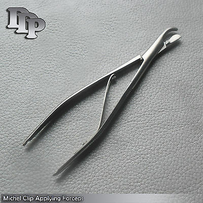 "Michel Clip Applying Forceps 4.75"" Surgical Instrument Suture INSTRUMENTS"