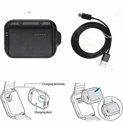 R380 Charging Dock Cradle Charger Adapter For Samsung Galaxy Gear 2 SM-R380