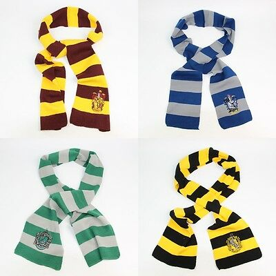 Harry Potter Gryffindor House LOGO Knit Wool Scarf Wrap Cosplay Costume Kids